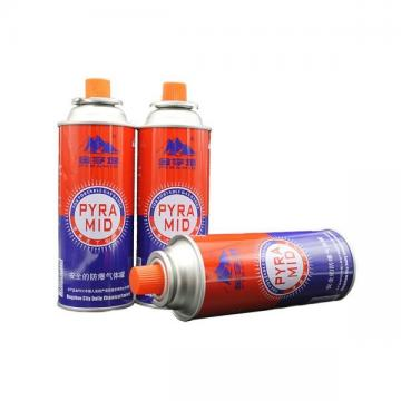 220g butane gas can and camping gas cartridge with CRV