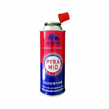 Heat Resistance Disposable Straight Wall Aerosol Tinplate Can camping gas butane canister refill